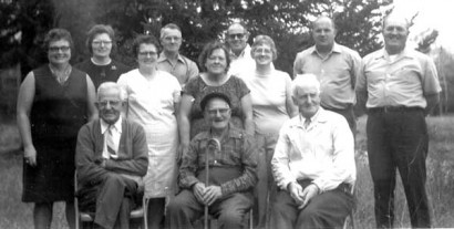 Clyde Hoover family, circa 1971