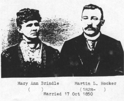 Martin Luther and Mary Ann (Brindle) Hocker