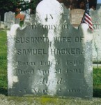 Susanna (GSELL) HACKER (1806—1891), wife of Samuel HACKER