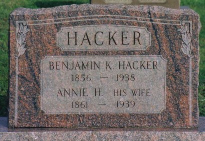 Benjamin K HACKER (1856—1938) and Annie H. HACKER (1861—1939)