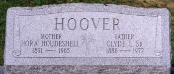 Gravestone of Clyde and Nora HOOVER