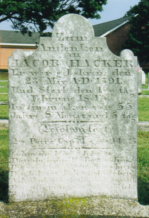 Jacob Hacker gravestone