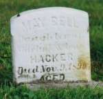 May Bell Hacker gravestone