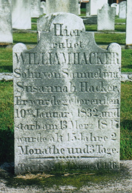 William Hacker gravestone