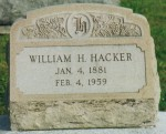 William H. Hacker gravestone