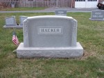 Gravestone of Franklin and Maggie M. (Rishel) Hacker
