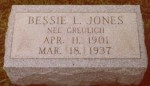 Bessie (Greulich) Jones (1901-1937)