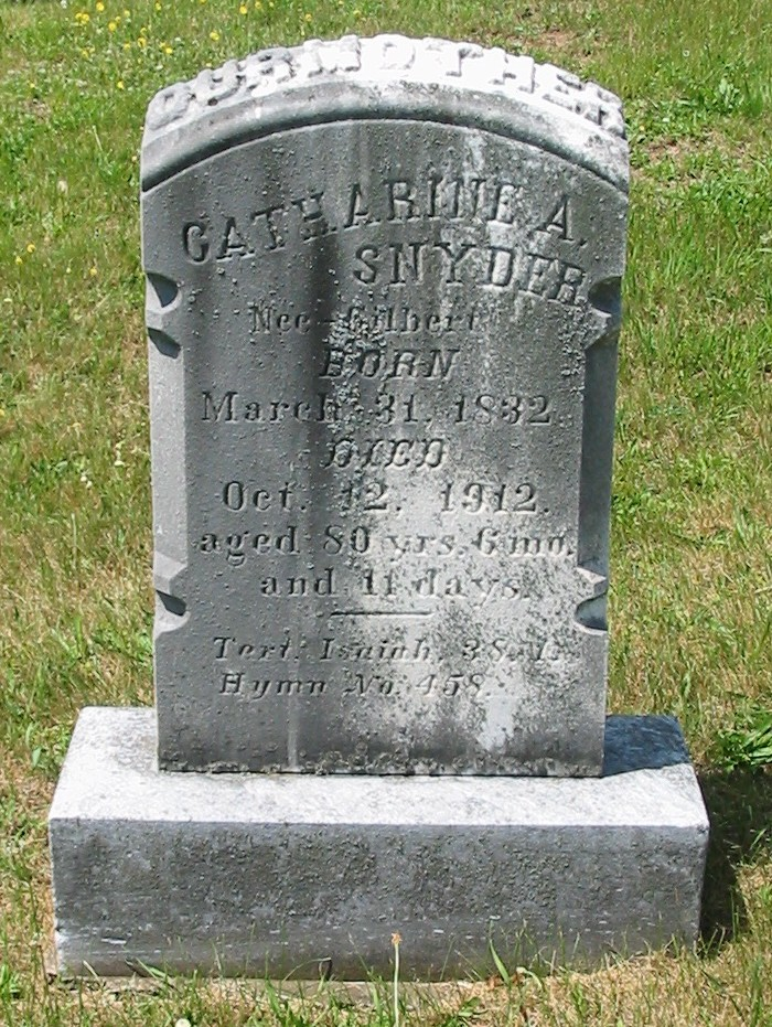 Catharine A. (Gilbert) Snyder (1832-1912)