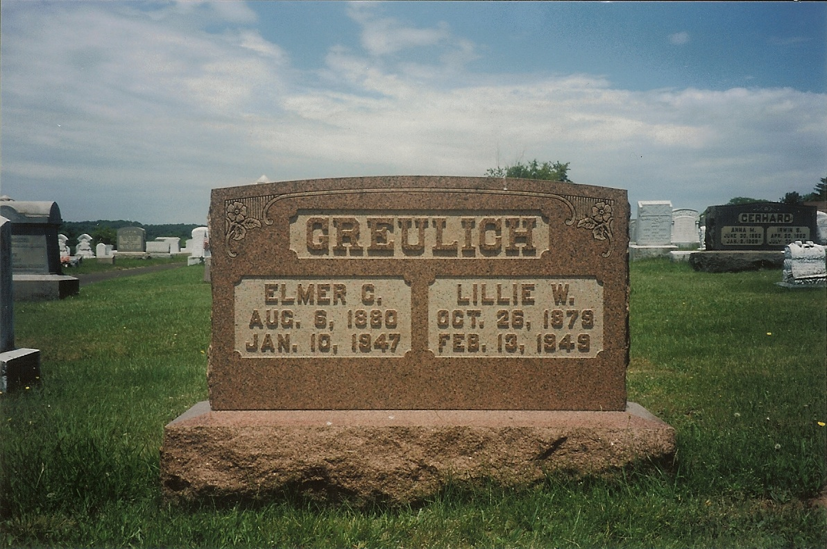 Elmer Greulich (1880-1947) and Lillie W. (Snyder) Greulich (1879-1949)