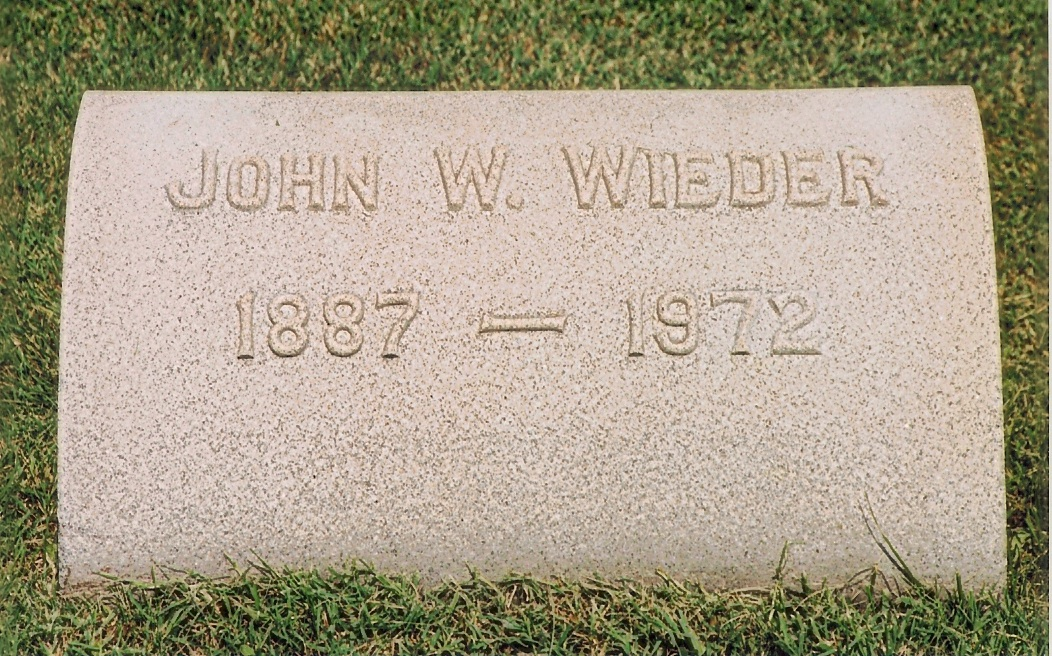 John William Wieder (1887-1972)
