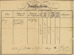 Karl Greulich's vaccination record