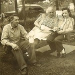 Bill, Isabella, and Mims Hocker in 1946