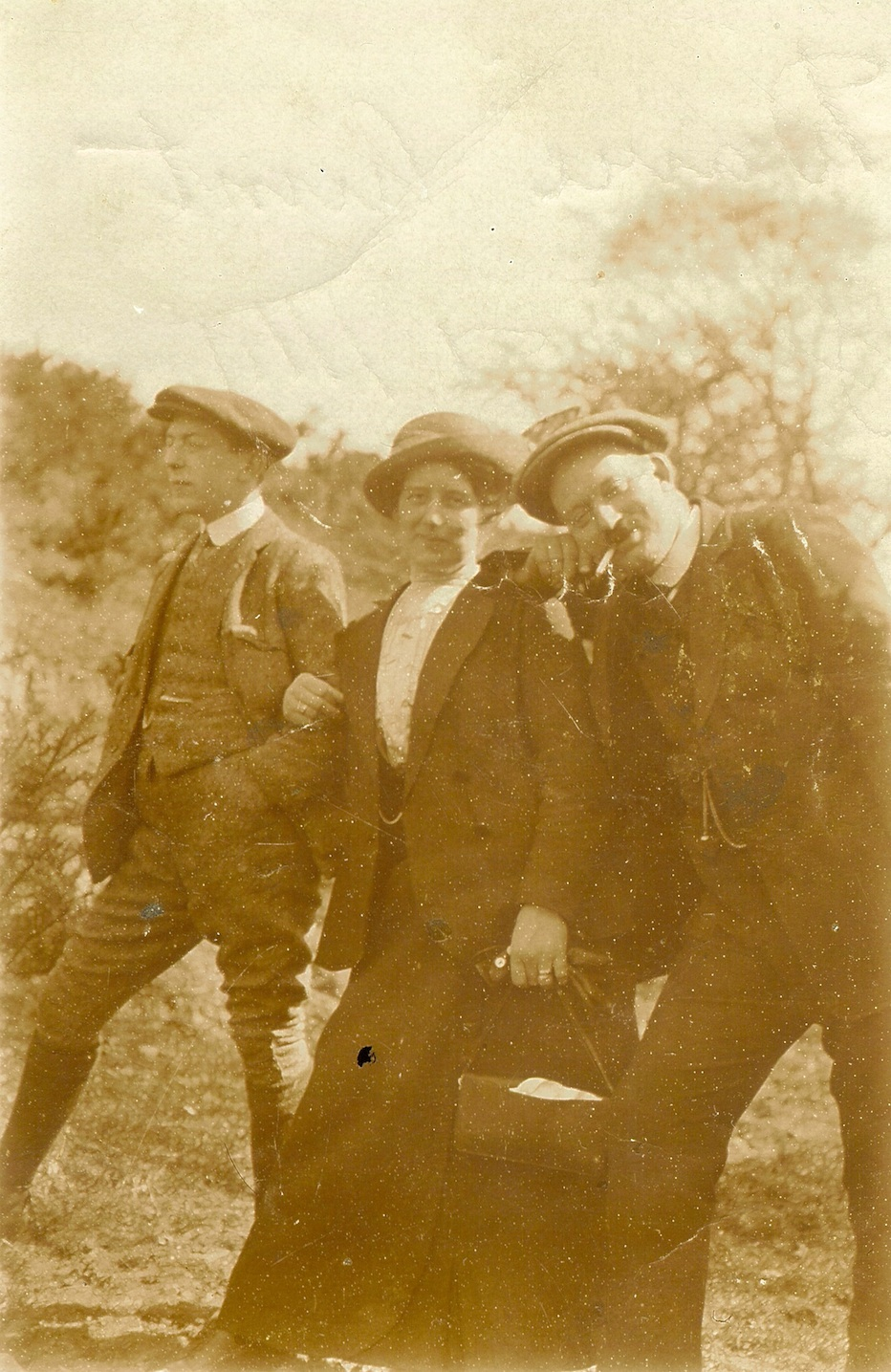David and William Simpson and Jessie Bonnington