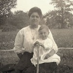 Lillian (Snyder) Greulich and son