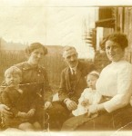Peter, Christina, and May Bonnington and Jessie (Alexander) Bonnington