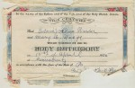 E.J. Wieder and Mae Waage Marriage Record