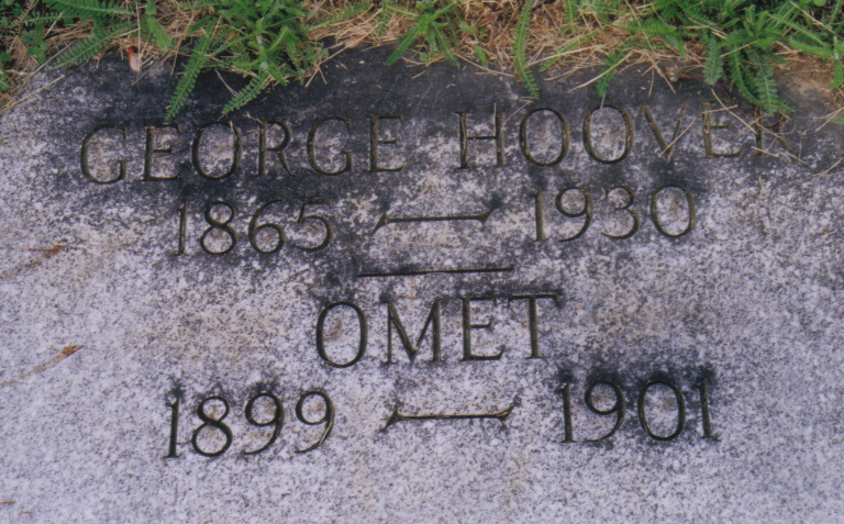 George and Omet Hoover gravestone