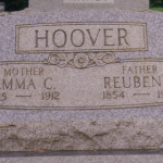 Reuben and Emma Hoover gravestone