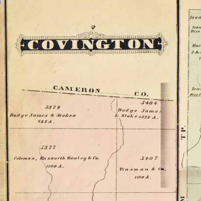 Caldwell's 1878 Covington township map