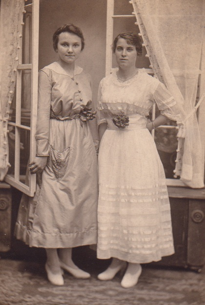 Unidentified young women
