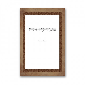 Book Pennsylvania Marriages and Death Notices 1820-1834