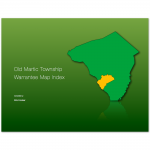 Old Martic Township Warrantees Map Index cover