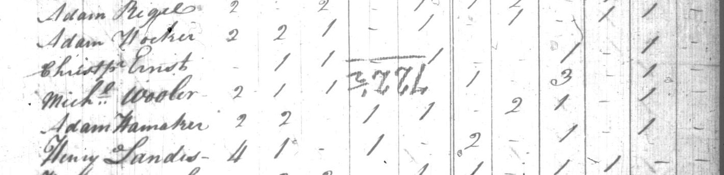 Adam Hocker 1810 Census