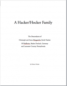 Book: Hacker-Hocker Family Genealogy