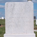 David Stauffer gravestone
