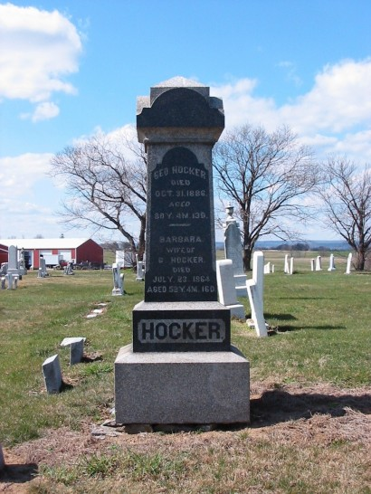 George Hocker (1806-1886) tombstone