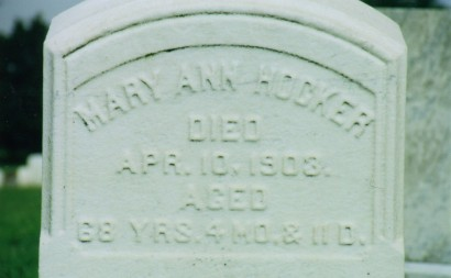 Mary Ann Hocker (d.1903) gravestone
