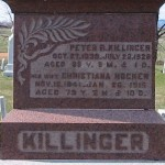 Peter & Christiana (Hocker) Killinger gravestone