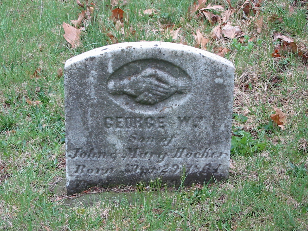 George William Hocker gravestone