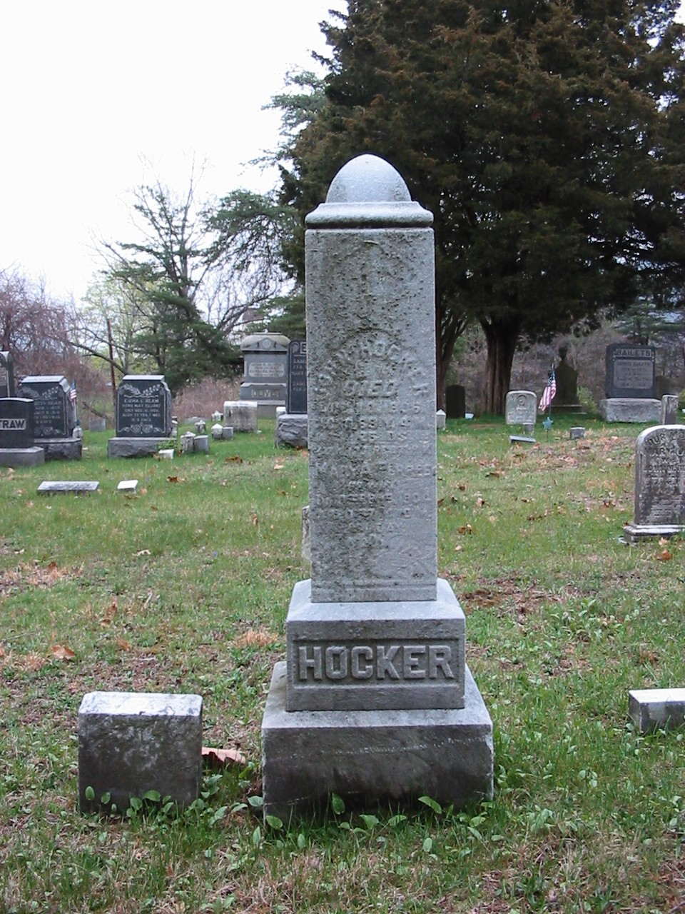 John & Mary Hocker gravestone