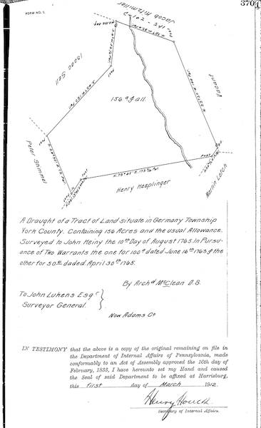John Küny land survey
