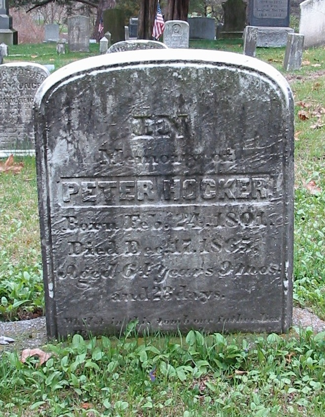Peter Hocker gravestone