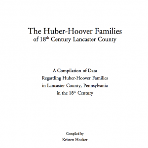 18th Century Lancaster County Hoover Families