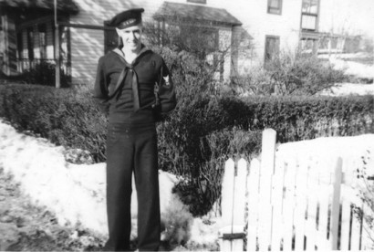 William Hocker Jr. in his Navy uniform