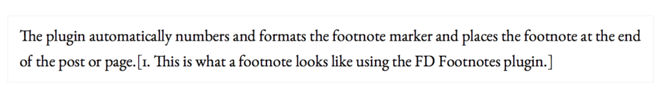 FD Footnotes example