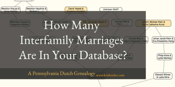 How Many Interfamily Marriages Are in Your Database