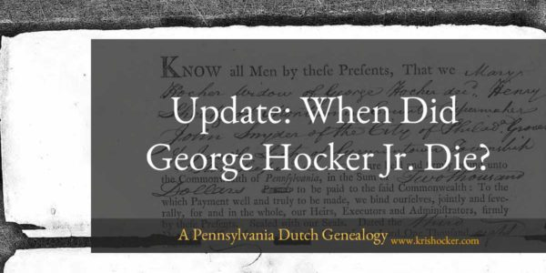 When Did George Hocker Jr. Die?