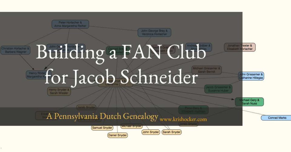 Building a FAN Club for Jacob Schneider