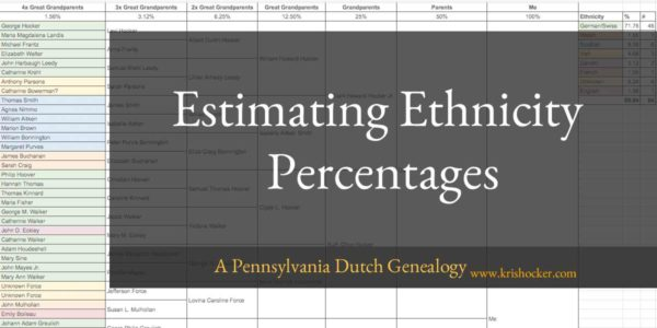 Estimating Ethnicity Percentages