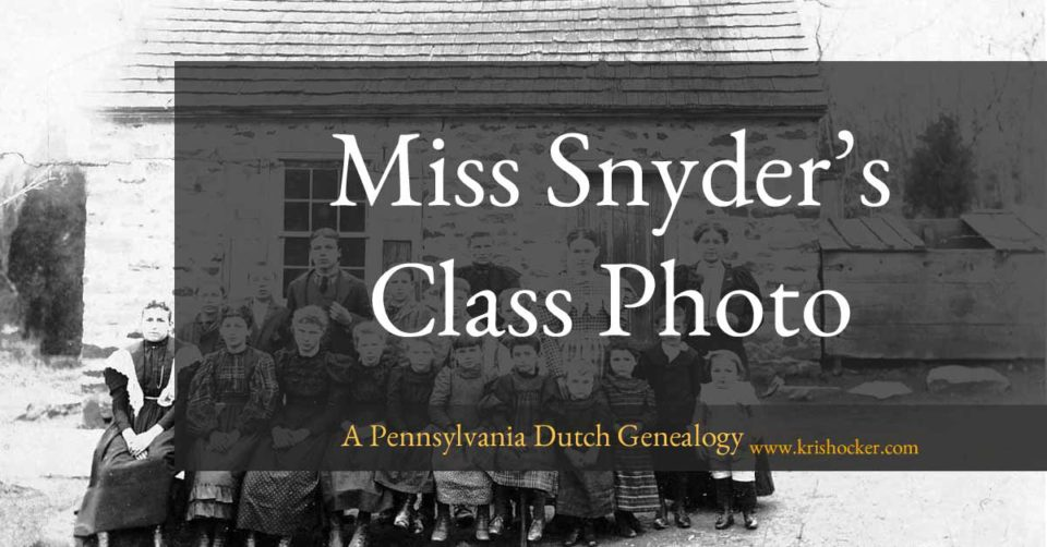 Miss Snyder's Class Photo