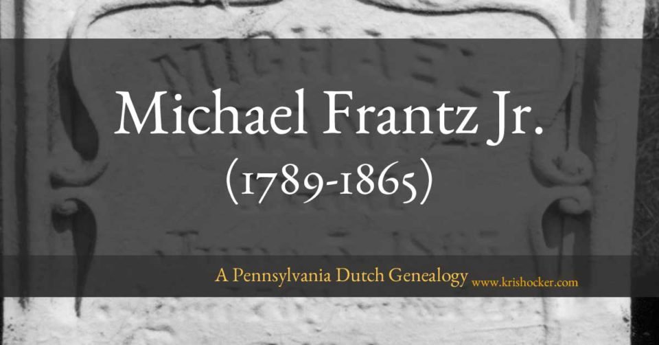 Michael Frantz Jr. (1789-1865)