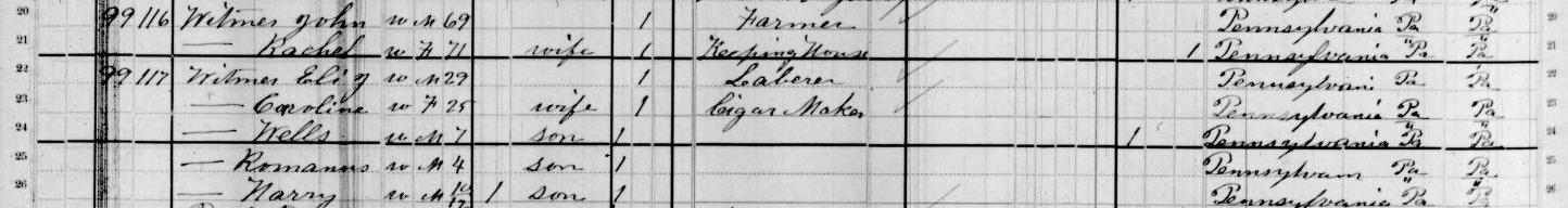 1880 John Witmer census