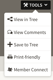Ancestry Save to Tree function